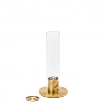 höfats SPIN 90 gold Bioethanol Windlicht   Tischfeuer   Gartenfackel