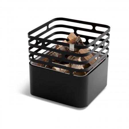 höfats Cube schwarz Feuerkorb   Grill   Hocker