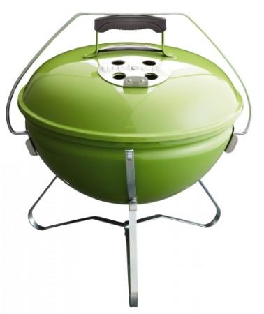 Smokey Joe Premium, 37 cm, Spring Green mit Tragebügel als Deckelhalter