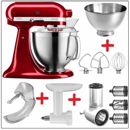 Set-Angebot A KitchenAid Artisan Premium 185 farbig plus 8 Teile