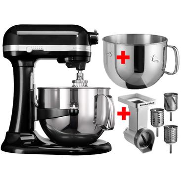 6,9 L-Artisan Küchenmaschine mit Schüsselheber schwarz