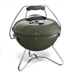 Smokey Joe Premium, 37 cm, Smoke grey mit Tragebügel als Deckelhalter