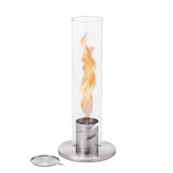 höfats SPIN 120 silber Bioethanol Windlicht | Tischfeuer | Gartenfackel