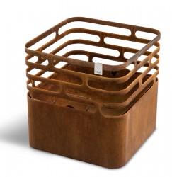 höfats Cube rostig Feuerkorb | Grill | Hocker