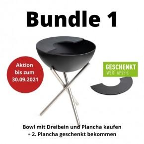 BUNDLE 1 höfats BOWL mit Dreibein Feuerschale und Plancha - 2. Plancha gratis