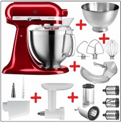 Set-Angebot B KitchenAid Artisan Premium 185 farbig plus 9 Teile