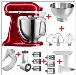 Set-Angebot D KitchenAid Artisan Premium 185 farbig plus 9 Teile