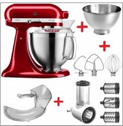 Set-Angebot E KitchenAid Artisan Premium 185 farbig plus 7 Teile