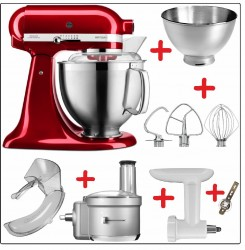 Set-Angebot F KitchenAid Artisan Premium 185 farbig plus 9 Teile