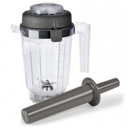 TNC  0.9 L TRITAN Behälter für Nasszubereitungen mit Deckel und Stößel
